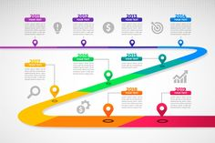 Gradient timeline infographic Free Vecto...   Free Vector #Freepik #freevector #infographic #business #abstract #technology Infographic Powerpoint, Timeline Infographic, Free Infographic, Infographic Templates, Infographics Design, Web Design, Graphic Design Tips, Design Timeline, Human Body Crafts