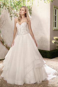 Jasmine Bridal - Collection Style F191019 in Organza, Tulle, color Ivory