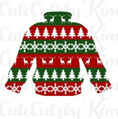 Ugly Sweater Svg jpg dxf png cricut file silhouette file