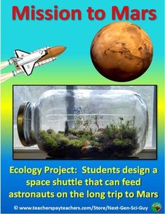 Next Generation Science Standards | NGSS Ecology Project | STEM Lab | mini ecosystem Lab | Mission to Mars lab | Middle School Ecology | High School Biology