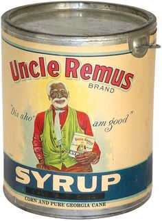 Vintage Uncle Remus Syryp can.