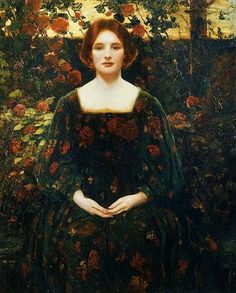 Thomas Edwin Mostyn, Womanhood - Pre Raphaelite Art