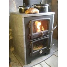 Vermont Bun Baker Wood Cookstove 750 Massive and standard size self standing soapstone wood stoves w