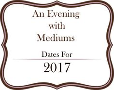 ICYMI: We've got April 2017 Evening with Mediums Event tickets available for purchase! These events only come around Event Tickets, Dating, Medium, Events, Quotes, Medium Long Hairstyles