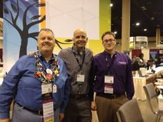 (L-R): Thomas MacEntee of Geneabloggers; Dan Hiestand of Houstory® Publishing (creator of The Heirloom Registry™ and the Home History Book™ archival journal); and D.Joshua Taylor of Findmypast US at the FGS 2012 Conference in Birmingham, Ala., in early September.