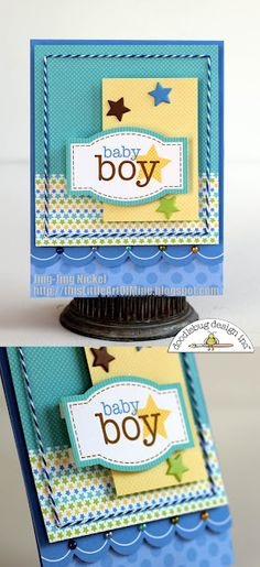 Baby shower, new arrival. Love the layers!