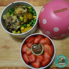 Loving Lunches: More Mushrooms for Mummy grown up lunch loaded potatoes and strawberry hearts