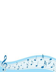 Printable music notes border free gif jpg pdf and png free music border templates including printable border paper and clip art versions file formats include gif jpg pdf and png voltagebd Images