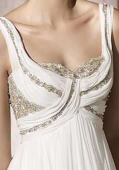 white dress with beading