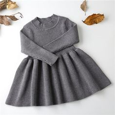 Girls Knitted Dress 2019 autumn winter Clothes Lattice Kids Toddler baby dress for girl princess Cotton warm Christmas Dresses - The most beautiful children's fashion products Girls Knitted Dress, Girls Sweater Dress, Baby Girl Sweaters, Knit Sweater Dress, Baby Outfits, Toddler Dress, Baby Dress, Ruffle Dress, Ruffles
