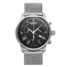 ZEGAREK ZEPPELIN TRANSATLANTIC 7682M-2 QUARZ  To eleganckie niemieckie zegarki ze szwajcarskimi mechanizmami o wzornictwie z elementami typowymi dla słynnych sterowców z początku XX w. Zegarki są numerowane, a na stalowych denkach wygrawerowany jest sterowiec.
