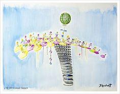 ARTWORK DETAILS   Title: Geometric abstraction 04   Date:  2014   Medium: Watercolor on paper   Dimensions: 76 x 56 cm   http://jgalant.com/paper
