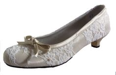 Rebecca Wedding Shoes | lace, round toe, kitten, bow, vintage | Bridal Shoes, Bride Shoe, Low Heel, High Heel | Bespoke Big Day