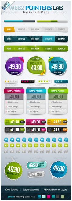 PointerButtons Lab - GraphicRiver Item for Sale