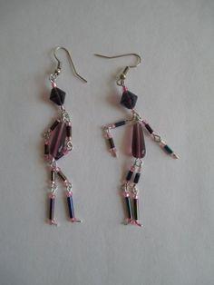 nice DIY Bijoux - Beaded Earrings shaped like peopleSilver by PaintedPonyGallery, $18.00...