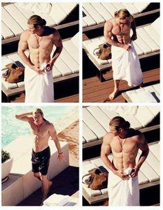 Chris Hemsworth (ooooooo that body though...........)