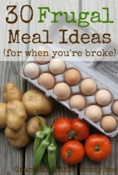 These inexpensive meal ideas will get you through when your wallet is empty. Tons of extra ideas in the comment section! save money on food frugal meal ideas, meal planning tips and budget recipes! Cooking On A Budget, Cooking Tips, Cooking Recipes, Food Budget, Budget Freezer Meals, College Cooking, Cooking Corn, Budget Meal Planning, Cooking Classes
