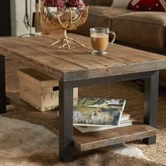 22 Modern Coffee Tables Designs [Interesting, Best, Unique, And Classy] Rustic Coffee table design ideas. Coffee table design above is a really exceptional as well as modern styles. Hope you understand or ideas for your contemporary coffee table. Coffee Tables For Sale, Rustic Coffee Tables, Coffe Table, Coffee Table With Storage, Reclaimed Wood Coffee Table, Diy Coffee Table Plans, Coffee Tables For Sectionals, Farmhouse Coffee Table Sets, Coffee Table Out Of Pallets