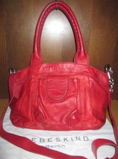 * * * LIEBESKIND Berlin Ledertasche rot * * * Clutch, Balenciaga City Bag, Shoulder Bag, Bags, Fashion, Clothing Accessories, Hand Bags, Red Clothing, Leather Bag