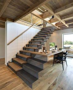 escada, Madeira, branco, preto, transparência