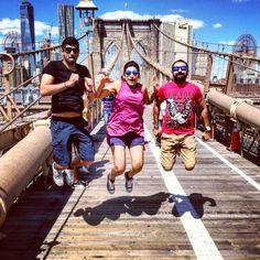 1 - 2 - 3 JUMP! #Brooklynbridge #Brooklyn #NewYork #NewYorkcity #NYC #Holiday #Travel #Vacation #USA #TravelDiaries