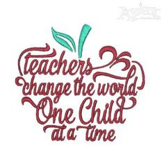 Teachers Embroidery Designs