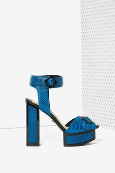 We got together with one of our favorite shoe brands, Kat Maconie, to design sky-high platforms that are sure to make jaws drop.