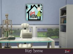 evi's Stay Home Home Themes, Sims Community, Sims Resource, Electronic Art, Sims 4, Paintings, Paint, Painting Art, Painting