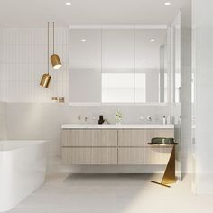 // YASSS @architectben ⚡️⚡️⚡️Team DS. X #designstuff #bathroom #ensuite #bathroomdesign #bathroominspo #bathroominspiration #bathroomdecor #melbourne #hampton #doublevanity #brass #chrome #bath #shower #tecture #australiandesign #australianinteriordesign #australianarchitecture #interiordesign #architecture