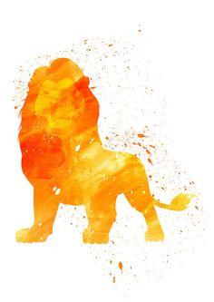 Lion King Mufasa Disney Alternative print by WatercolorDsgn