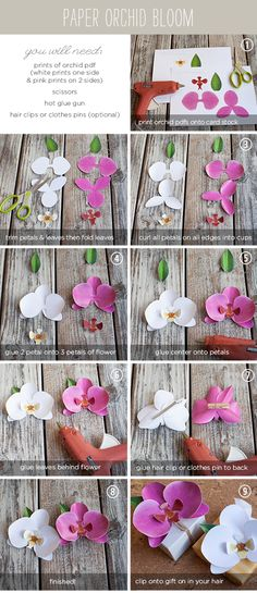 Blog My Little Party - Ideas e Inspiración para Fiestas: DIY: Orquídeas de Papel