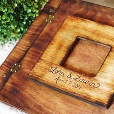 Rustic Wedding Album or Guest Book... A timeless way to preserve and share your priceless memories and photos.