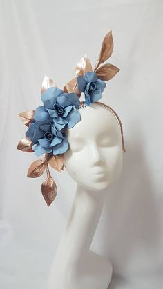 New Designs – Page 5 – Millinery By Mel Facinator Hats, Fascinators, Headpieces, Floral Headdress, Diy Accessoires, Head Jewelry, Millinery Hats, Cocktail Hat, Leather Flowers