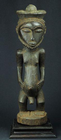 Fétiche Hemba Statue Ancêtre Power Figure Fetish Congo Luba ART Africain Premier…