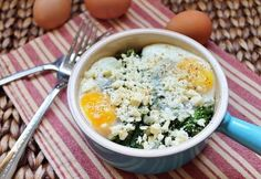 "Kale & Feta Egg Bake - ""The perfect single lady dinner"""