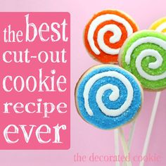 """""""The best cut-out cookie recipe in the world. Not only does it taste so good...it holds the cookie cutter shape flawlessly and bakes beautifully. It's thick with an interesting texture, not too crunchy, not too soft. No spreading, no burned bottoms, no poofs or bubbles..."""" I'll give it a try!"""