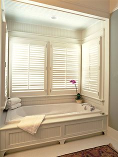 love faux front on tub and I really need to get some blinds in my bath to cover the ugly patterend clouded window.