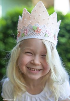 DIY Pink Felt Crown for Your Little Princess by Lia Griffith at Handcraft Your Life