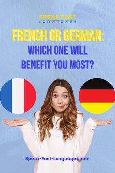 French and German are two popular languages offered at school. But if you didn't go for any of them and chose instead Spanish – the third most popular language offered in the education system- you might have a dilemma in your hands when trying to decide which one to go for. Learn French Beginner, French For Beginners, Grammar Tips, Education System, Languages, Third, Spanish, German, Hands