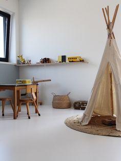 tipi chambre enfant lin deco scandinave minimaliste et épurée