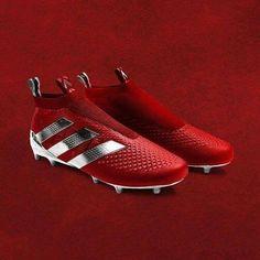 Stunning red Adidas boots.