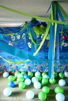 The Swell Dish: Ocean Nautical/Under the Sea Party Room Decor