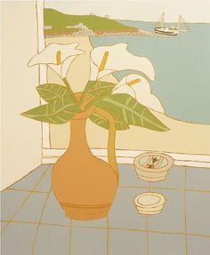 Lilies & Fishing Boat | Bryan Pearce
