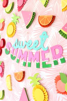 DIY Chipboard Letters for Summer | crafts | craft ideas | craft ideas on a budget | easy craft ideas