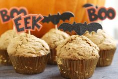 Pumpkin Spice Muffins  -  sweet snack, healthy version.  snack girl recipe.  fruit, fall, holidays.   lj
