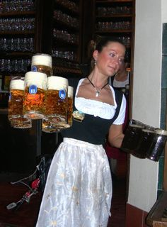 Beer at the Hofbrau House in Munich, Germany