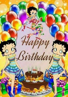 Betty Boop Happy Birthday images pictures) ⭐ Pictures for any occasion! Happy Birthday Betty Boop, Cute Happy Birthday, Happy Birthday Vintage, Happy Birthday Pictures, Birthday Bash, Birthday Wishes Cards, Happy Birthday Messages, Happy Birthday Quotes, Happy Birthday Greetings