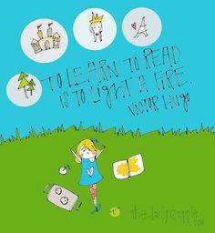 """To learn to read is to light a fire.""   ~ Victor Hugo  #myschoolyears #myskooljare #keepsake #journal #school #memories #writeitdown #giftidea"