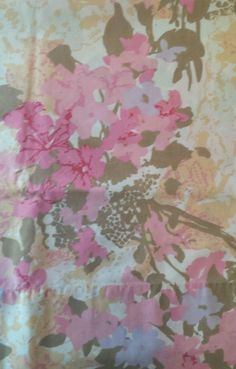 2 Vintage West Point Pepperell Standard Pillow Cases Floral Pink Tan Percale Set #WestPointPepperell