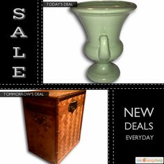 Today Only! 40% OFF this item. Follow us on Pinterest to be the first to see our exciting Daily Deals. Today's Product: Sale -  Medium Vintage Green Mid Century Haeger Pottery Vase Urn Buy now: https://orangetwig.com/shops/AABdT38/campaigns/AACmnzZ?cb=2016006&sn=Heathertique&ch=pin&crid=AACmnnZ&exid=240464666&utm_source=Pinterest&utm_medium=Orangetwig_Marketing&utm_campaign=05-02-16   #vintagefurnitureonline #homedecor